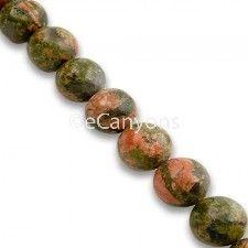 8mm Unakite Stone Beads   Price : $3.99