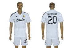WorldSoccerForSale.com supply new 2012-2013 Real Madrid Higuain 20# Home White Special Edition Soccer Jersey. Find the largest selection of Cheap Real Madrid jerseys on sale.
