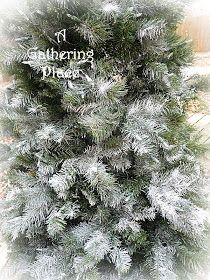 DIY:  How To Paint A Christmas Tree - if your artificial tree is looking old & tired, give it a facelift with paint!
