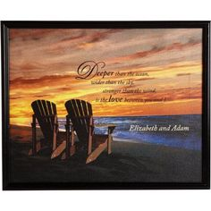 Personalized Unframed Beach Chair Canvas, Multicolor
