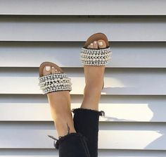 pearls are girls best friend Black Sandals, Leather Sandals, Mystique Sandals, Types Of Women, Girls Best Friend, Shoe Game, Spring Summer Fashion, Espadrilles, Pairs