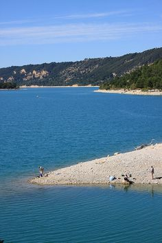 Fishing at Lac de St Croix, Verdun, Provence, France