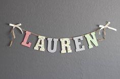 "Custom ""Name"" Wood Banner/Sign for Baby, Kid, Child, Nursery on Etsy, $8.00"