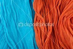 Turquise and orange