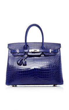HERITAGE AUCTIONS SPECIAL COLLECTIONS HERMÈS 35CM BLUE ELECTRIC SHINY  POROSUS CROCODILE BIRKIN.  heritageauctionsspecialcollections   fac6450455
