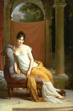 """""""Madame Récamier"""" (1802) von François Pascal Simon Gérard (geboren am 12. März 1770 in Rom, gestorben am 11. Januar 1837 in Paris), französischer Porträtmaler."""
