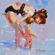 """Redheads"" by Sally Shisler, painting by artist Sally Cummings Shisler"
