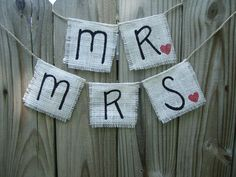 Mr and Mrs Burlap Banners  photo prop by alikarr on Etsy