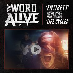 """The Word Alive's new music video for """"Entirety"""" is premiering now at AltPress The Word Alive, Music Bands, New Music, Music Videos, Album, Words, Movies, Movie Posters, Life"""