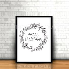 Merry Christmas, Frame, Etsy, Home Decor, Merry Little Christmas, Room Decor, Frames, Wish You Merry Christmas, Home Interior Design