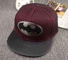 NEU-Batman-Cap-Metall-Symbol-Muetze-Hip-Hop-Caps-Snapback-Basecap-Hut-Kappe-Dark