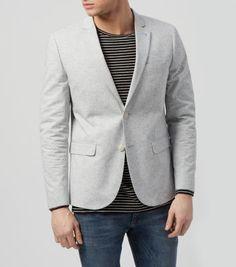Grey Flecked Oxford Blazer