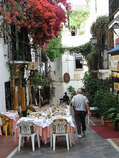 Marbella, Spain on the Costa del Sol....ahhhh such fond memories..our nightly ritual of Paella & bottles of wine :)