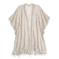 CALYPSO St. Barth Acosta Hand Crochet Silk Cardigan ($1,200) ❤ liked on Polyvore featuring tops, cardigans, kimono, cardigans / kimonos, jackets, outerwear, sft slvr, white kimono cardigan, crochet top and white crochet cardigan