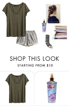 """""""SO much homework..."""" by fangirl007 ❤ liked on Polyvore featuring H&M and Victoria's Secret"""