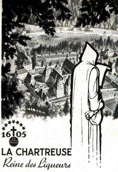 fce660e6beb Pub rétro - La Chartreuse Reine des Liqueurs Illustration