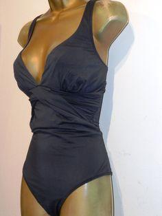2b3f5cd5d2dd8 LADIES GREY MONSOON RUCHED SWIMSUIT SIZE 12 CONTROL SWIMWEAR  fashion   clothing  shoes  accessories  womensclothing  swimwear (ebay link)