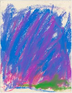 Joan Mitchell - Untitled, 1983, pastel on paper, 10.5x8.25 in, 26.7x21 cm