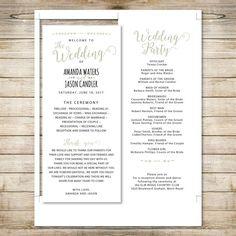 Wedding Program Template Printable by Invitationstemplates