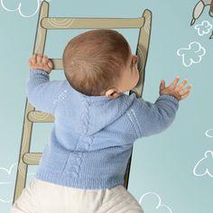 Кофточка с капюшоном для малышей - схема вязания спицами. Вяжем Кофты на Verena.ru