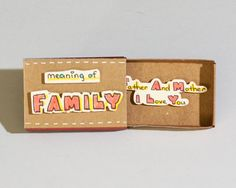 Mutter-Vater-Karte / Familienkarte Eltern / Matchbox / von shop3xu