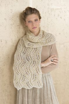 Ravelry: Champagne Bubbles Brioche Lace Scarf pattern by Nancy Marchant