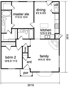First Floor Plan Of Traditional House Plan 89965