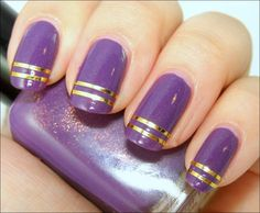 Best Body Art and Styles | 28 Awesome Purple Nail Designs