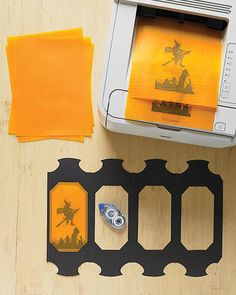 vellum halloween table lanterns - How To Make Halloween Lanterns