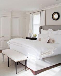 white bedroom, dormitorio en blanco