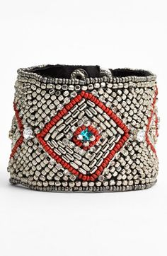 Cara Couture Beaded Cuff Bracelet | Nordstrom