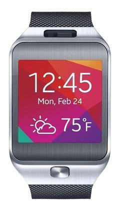 Samsung Gear 2 Black Silver Smart Watch Galaxy S 3,4,5,6 Note 2,3,4 Mega SM-R380 #Samsung