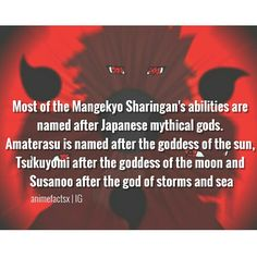 I knew this already, but I'm still pinning it. > Don't forget about Izanami and Izanagi! Naruto Sharingan, Gaara, Naruto Shippuden, Boruto, Dc Anime, Anime Naruto, Otaku, Naruto Facts, Naruto Quotes
