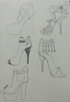 illustration sketches fashion ideas shoes 67 67 Ideas fashion shoes illustration sketches 67 Ideas fashion shoes illustration sketchesYou can find illustration fashion design and more on our website Dress Design Drawing, Dress Design Sketches, Fashion Design Sketchbook, Fashion Design Drawings, Fashion Sketches, Drawing Sketches, Shoe Sketches, Shoe Drawing, Drawing Faces