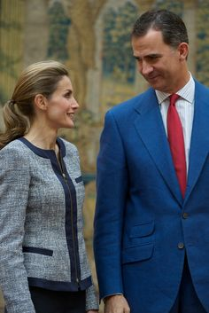 Queen Letizia of Spain: Spanish Royals Receive Members of Solidarity Institutions