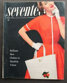 April 1954 Seventeen Magazine, Vintage Magazines, Colorful Fashion, New Outfits, Online Price, Reusable Tote Bags, Best Deals, Clothes, Outfits