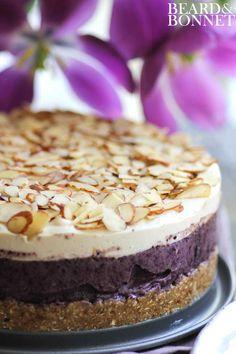 Meyer Lemon & Blueberry Icebox Cake: sweet, tart, creamy and crisp (raw, vegan).