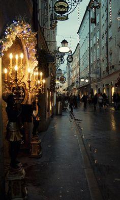 Street of Salzburg, Austria