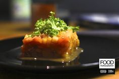 Tartare di salmone e cachi vaniglia