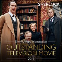 Hooray! The Abominable Bride has been nominated for six Emmy Awards including one for Benedict! #Sherlock #Emmys