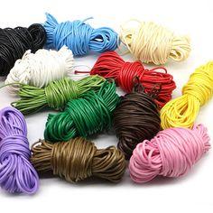 Macrame 1 to 400 mtr 2E,D Jewellery wax Waxed Cotton 1mm Cord Shamballa