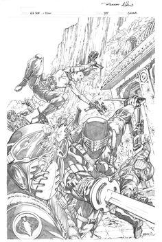 GI Joe 25 cover by Robert Atkins