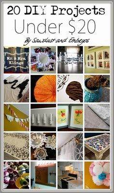 20 Simple DIY Projects for UNDER $20! (Great Homemade Gift Ideas!)