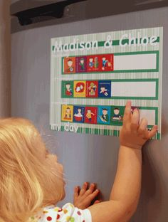 weekly, daily and morning and evening charts also reward charts - magnetic sheets with magnets