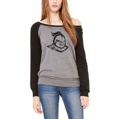 UCF Knights Let Loose by RNL Women's Gameday Wide Neck Sweatshirt - Deep Heather/Black