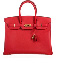 Pre-owned Hermes Satchel ($20,995) ❤ liked on Polyvore featuring bags, handbags, apparel & accessories, satchels, wallets & cases, red satchel, red handbags, leather satchel purse, red purse and genuine leather purse
