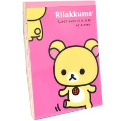 Rilakkuma Notebook & Stickers - Step at a Time notebook, only $9.99 at OyatsuCafe.com