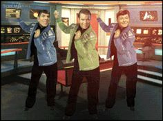786778926992768034.gif (319×239) // Kirk, Spock, McCoy dancing / disco party on the bridge