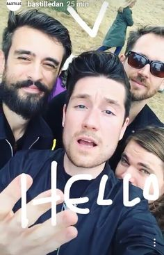 Bastille selfie ... This is one of the best photos of them that I've ever seen... Oh my god Dan's eyes...