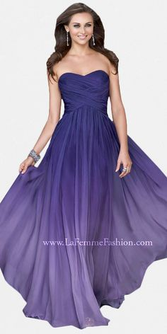 Purple Sweetheart Evening Dresses by La Femme at eDressMe